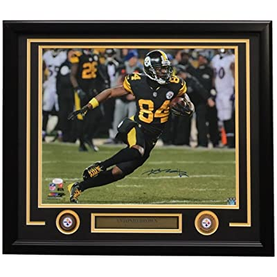 the best attitude 7db2d 9247d Antonio Brown Signed Framed 16x20 Pittsburgh Steelers ...