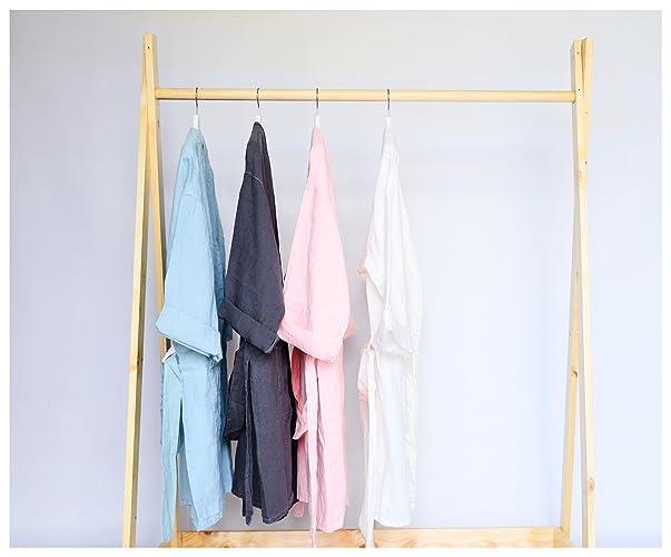 Amazon.com  Linen BathRobe - One Size Fits All- Washed Linen - Linen ... b64a31513