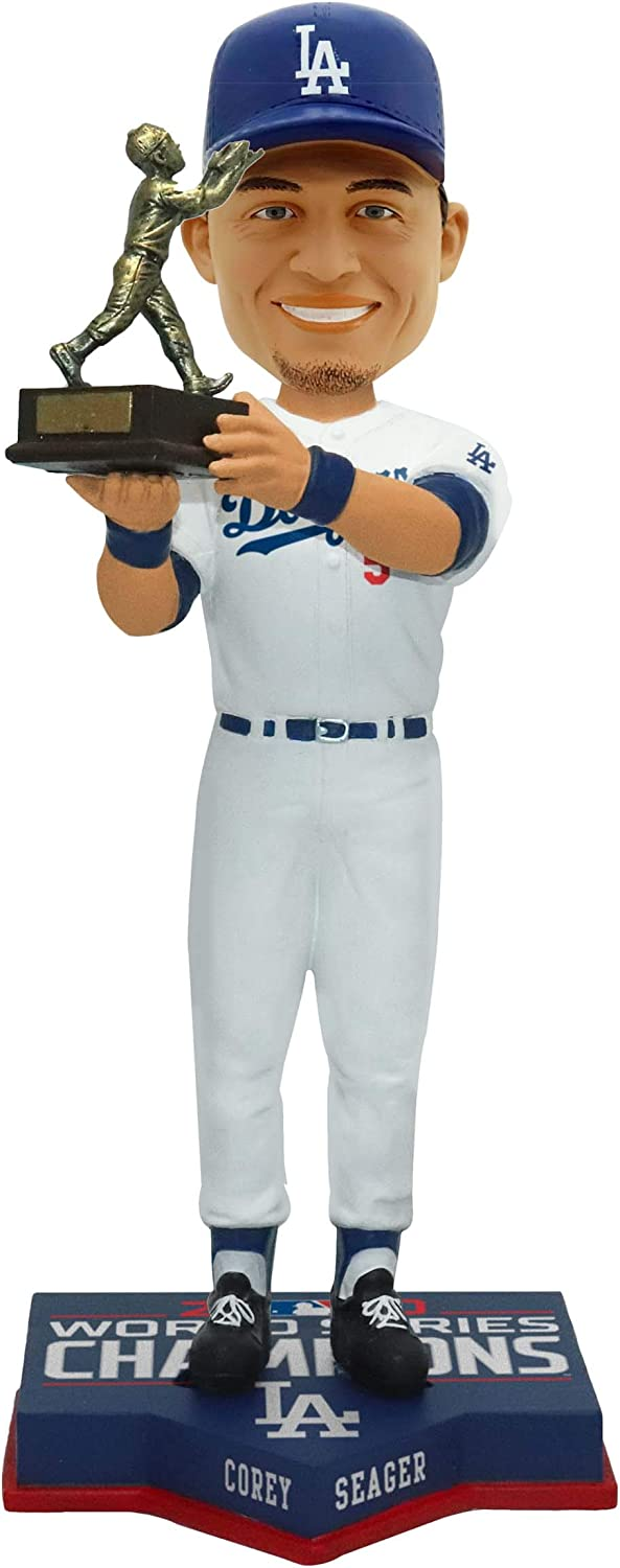 Corey Seager Los Angeles Dodgers 2020 World Series Champions 10 MVP Player Bobblehead Doll Bobble Head