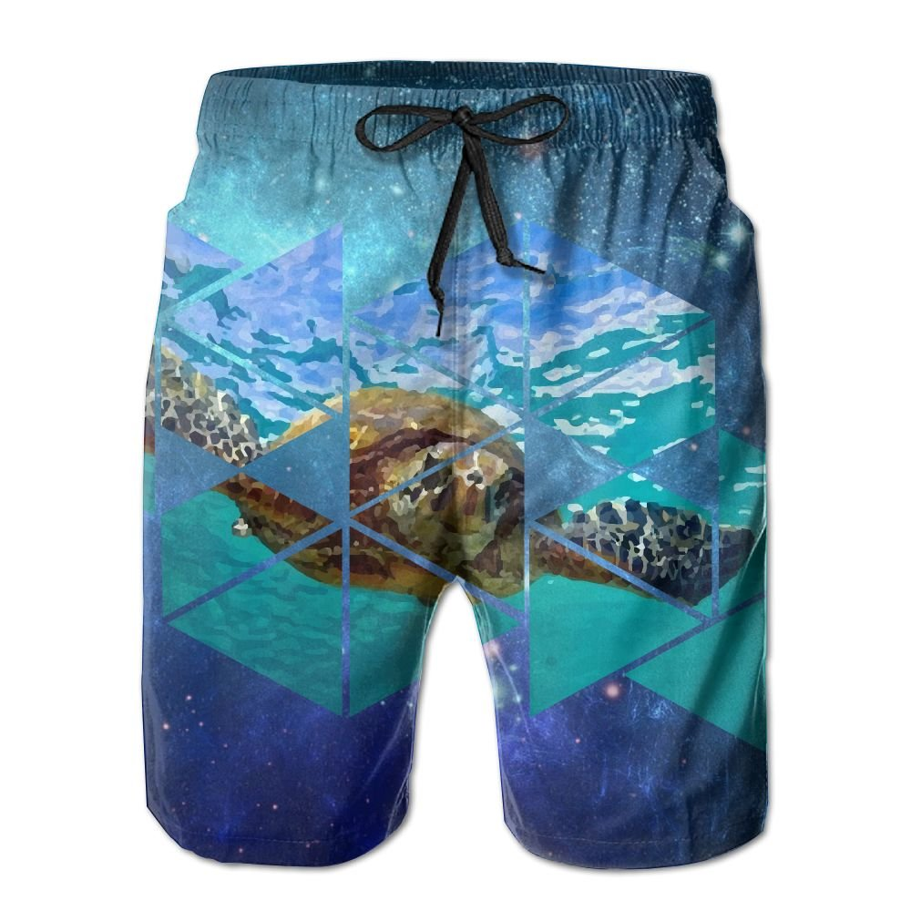 8ece2bad7b Amazon.com: Green Sea Turtle Men's Summer Quick Dry Swimming Shorts Beach Board  Swim Trunks: Sports & Outdoors