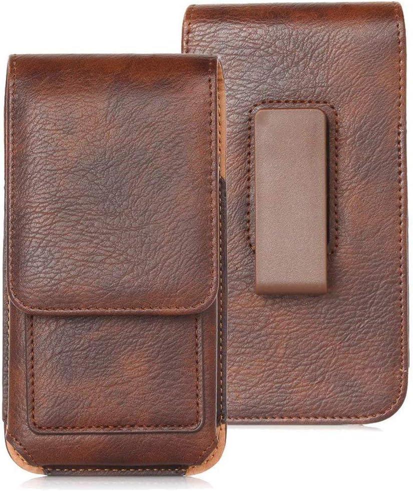 8.96 JERKKY Men PU Leather Waist Belt Bag Small Hook Fanny Waist Bag Hip Bum Pack Brown
