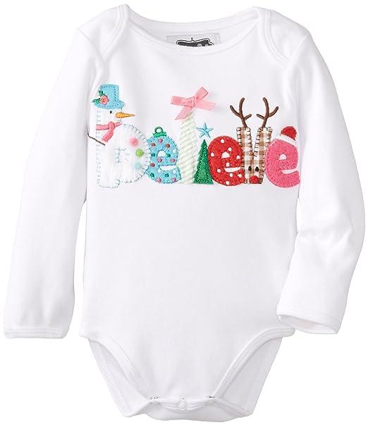 Amazon.com: Mud Pie Baby-Girls recién nacido Believe Crawler ...