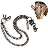 Wallet Chain Biker Hip Hop Punk Skull Pant Chain, Heavy Waist Chain Suitable for Belt Loop, Purse and Wallet