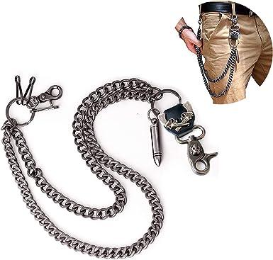 Men Bullet Wallet Chains Biker Trucker Punk Rock Simple Jean Hip Hop Key Chain