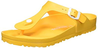 9856b3abdd466 Birkenstock Gizeh Ladies EVA Toe Post Sandals Scuba Yellow 41