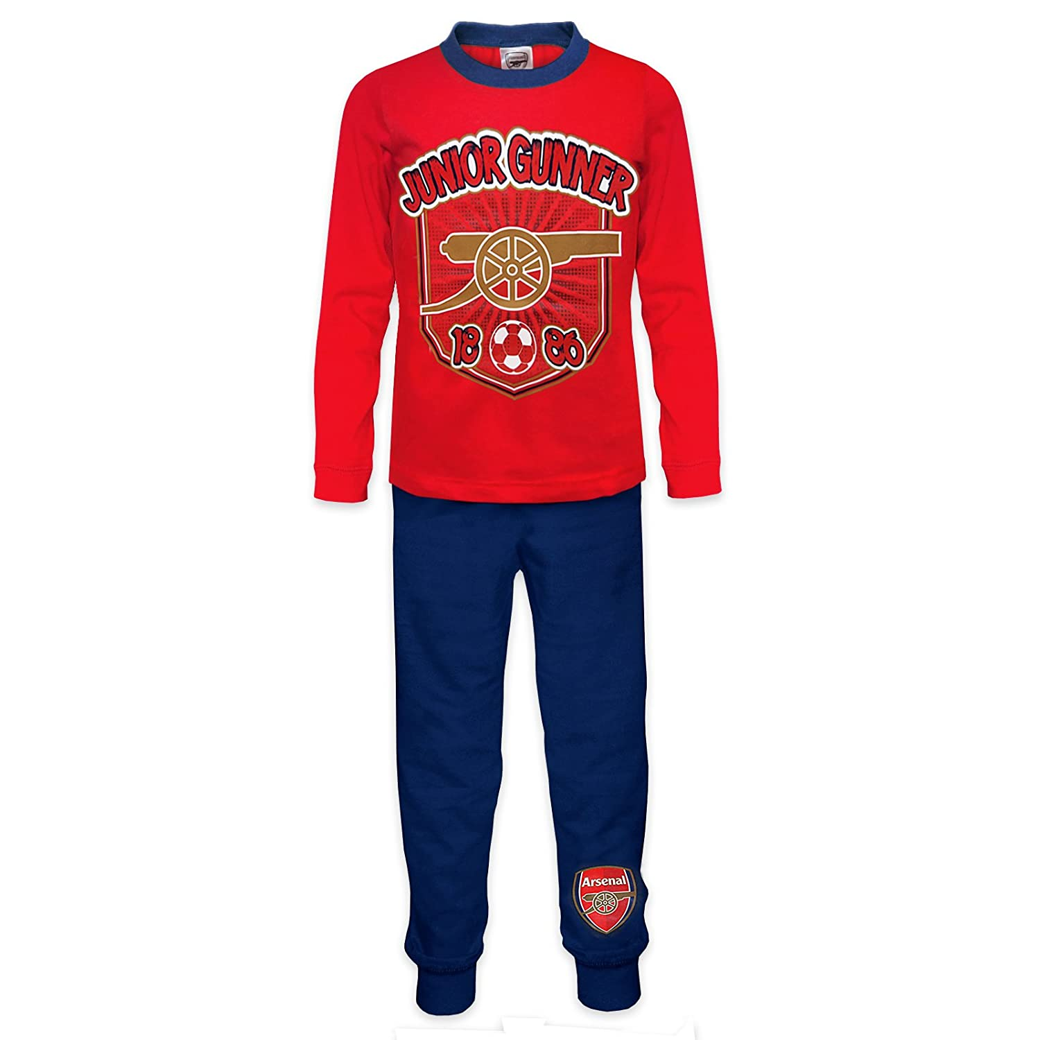 Arsenal FC Official Soccer Gift Boys Toddler Kids Pajamas 3-4 Years