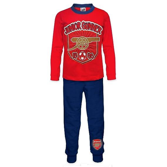 Arsenal FC - Pijama oficial para niño - Rojo - 3-4 años