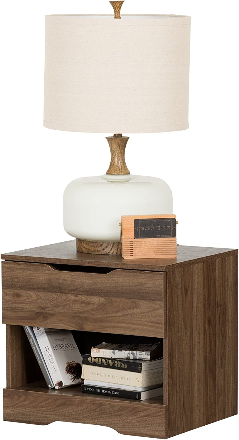 Gray Oak 21.06L x 16.48D x 23.23H South Shore Furniture 10397 Holland 1-Drawer Nightstand
