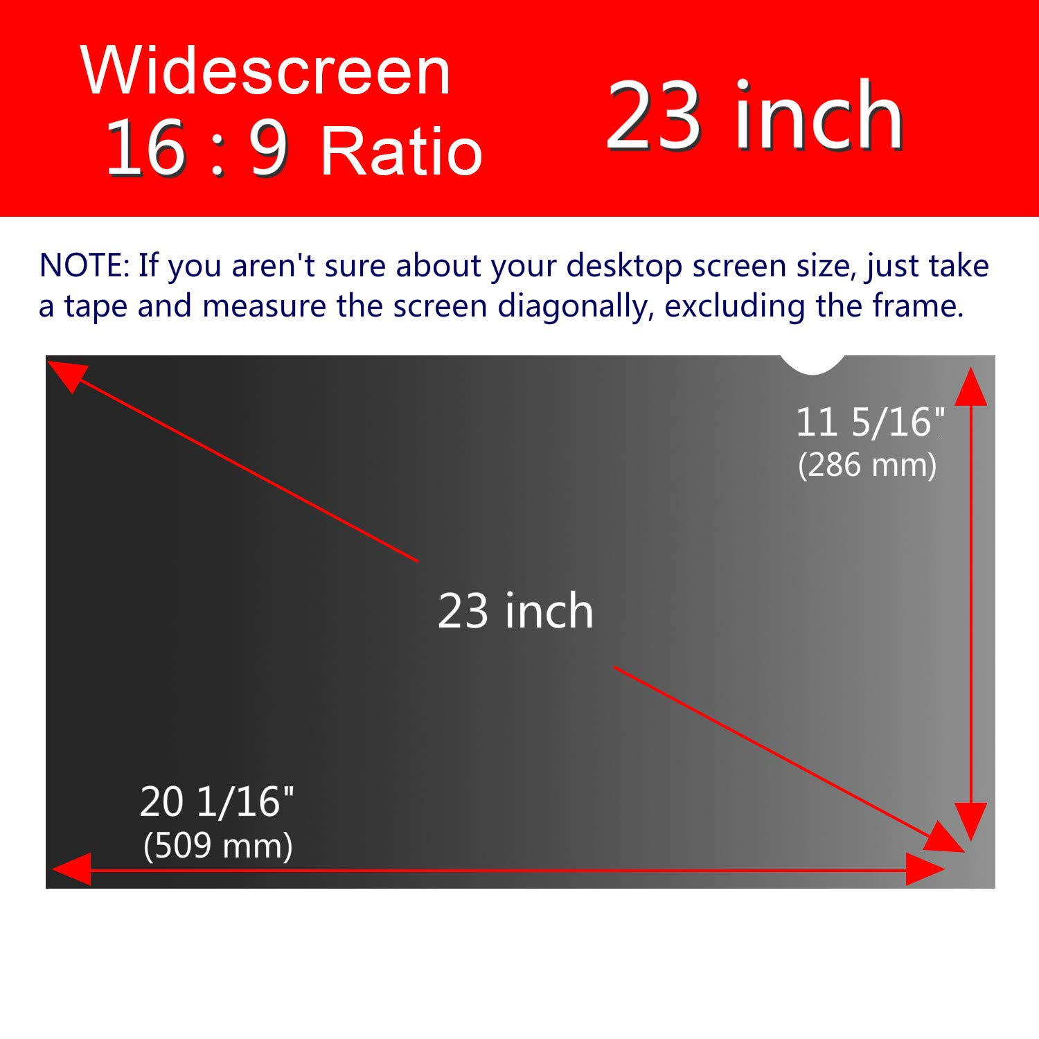 Magicmoon Privacy Filter Screen Protector, Anti-Spy&Glare Film for 23 inch Widescreen Computer Monitor (23'', 16:9 Aspect Ratio) by Magicmoon (Image #7)