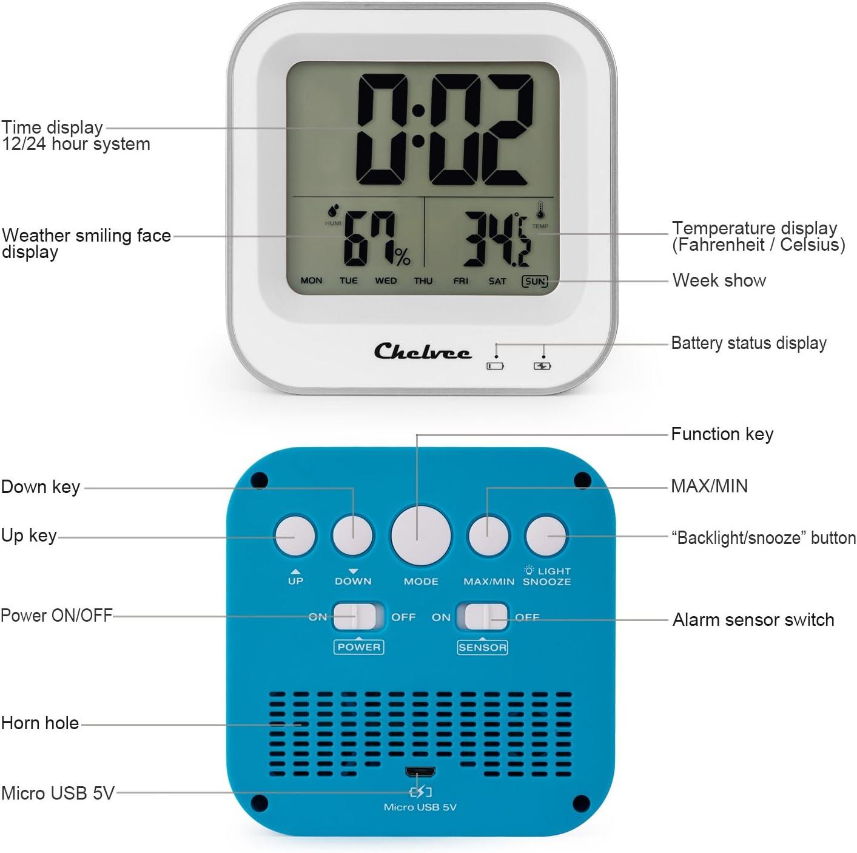 ghdonat.com Home & Kitchen Desk & Shelf Clocks Chelvee Alarm Clock ...