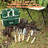 TOP-RATED-GardenHOME-7-Piece-All-In-One-Garden-Tool-Set-Heavy-Duty-Folding-Stool-Detachable-Canvas-Tool-Bag-with-Gardening-Tote-and-Heavy-Duty-Sturdy-Steel-Stainless-Tools