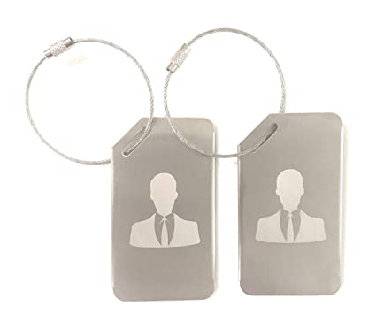 c0786a8dc2b0 Markha Luggage Tags for Men – Luggage Tags Durable Stainless Steel Secure  Personalized Travel Bag ID - (2 Pack)