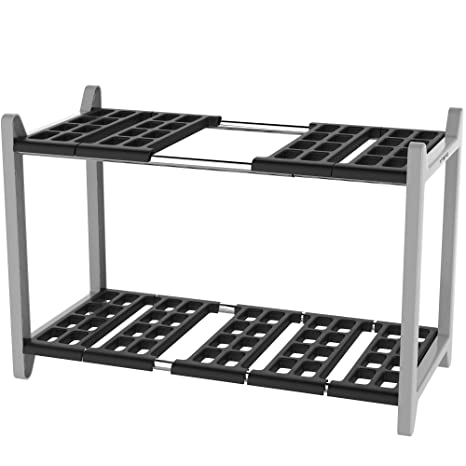 Phenomenal Vremi Expandable Under Sink Organizer Bathroom Kitchen Or Pantry Organization And Storage Shelves In Heavy Duty Plastic And Metal 2 Tier Home Interior And Landscaping Eliaenasavecom
