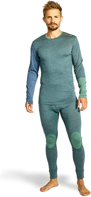 Ortovox Herren 185 Rock'n'Wool Long Sleeve Green Forest Blend