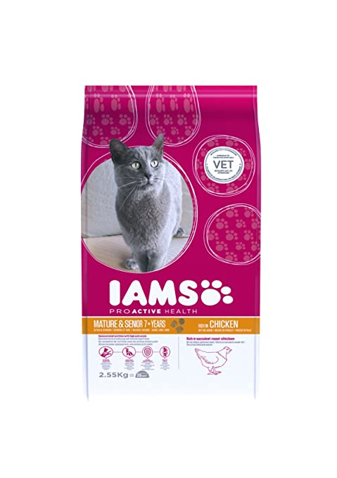 Iams Proactive Health Mature & Senior Rich In Chicken Comida para Gatos - 2550 gr