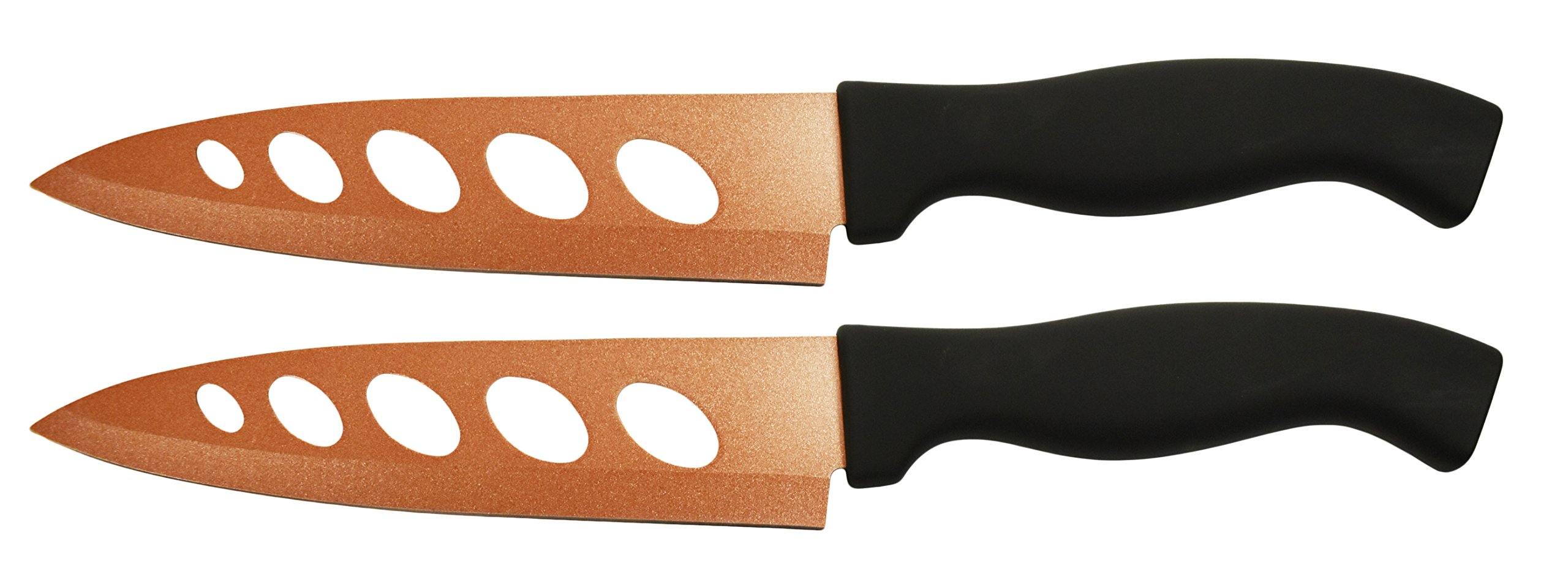 Set of 2 Copper Knives! 6.25'' Blade - As Seen on TV Never Sharpen Knives! Stays Sharp Forever! Effortless Clean Cuts Every Time! Ideal for Chopping, Dicing, Mincing, and More! (2) by Tekno