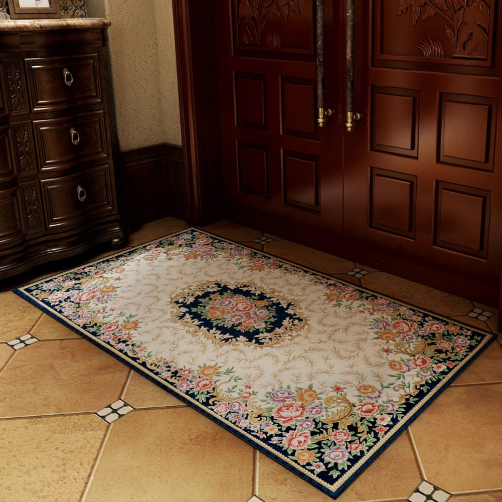 European Garden Floor Mat/Door,Entrance,Hallway Mat/Anti-slipping Mats/Wear-resistant,Washable Mat/Cushion For Computer Chair-D 100x150cm(39x59inch)