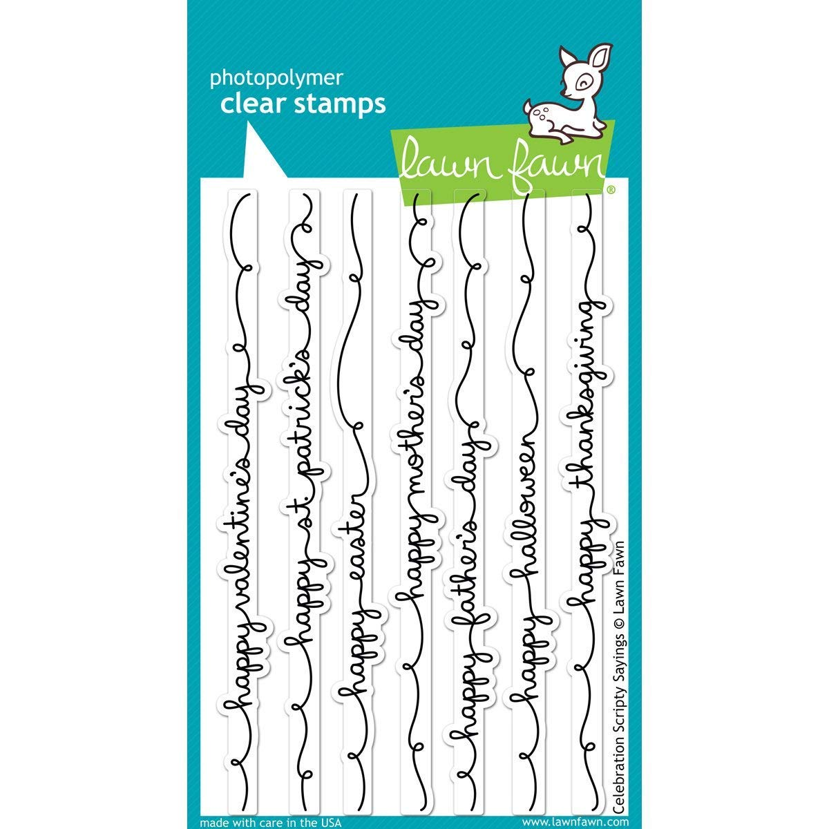 Celebration Scripty Sayings LF1059 Lawn Fawn Clear Stamps