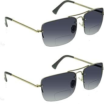 proSPORT Gradient Bifocal Sunglasses for Men Women Aviator Tinted Readers