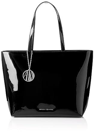 0e42db7f57dfe7 Amazon.com: A|X Armani Exchange Zip Top Tote Bag, black: Clothing