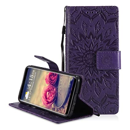 Funda Galaxy S9 Cuero, Galaxy S9 Carcasa Libro, Moon mood ...