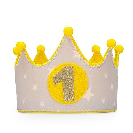 Kembilove Corona de tela para Cumpleaños Infantil – Corona Tela Cumpleaños – Corona Cumpleaños Infantil – Corona Primer Cumpleaños – Corona Niño y ...