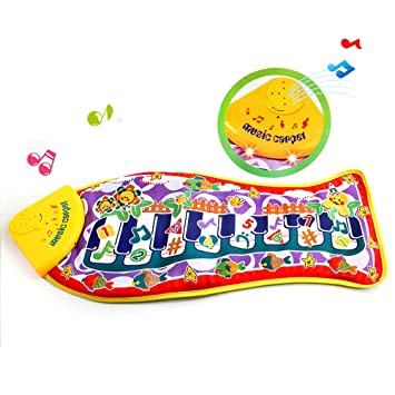 Amazon com: Hiltow Musical Mat,Baby Early Education Music
