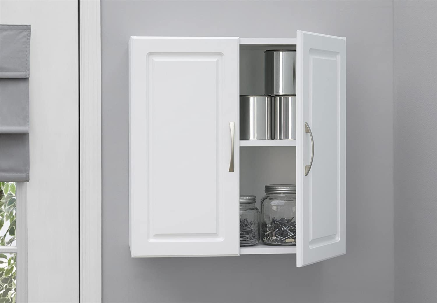System Build Kendall 24 Wall Cabinet, White Stipple 7366401PCOM