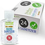 Hand Sanitizer Gel (24 Pack - 2oz Bottle) - 75% Alcohol - Kills 99.99% of Germs - Unscented Antibacterial Gel with Vitamin E & Aloe for Moisturizing in Mini 2 Ounce Bottles
