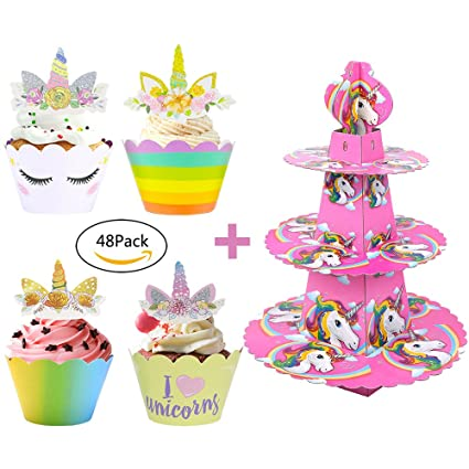Amazon Unicorn Cupcake Toppers And WrappersParty Supplies For