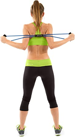 8-shaped Yoga Resistance Band Tubing Workout Exercise Band Resistance L4W3