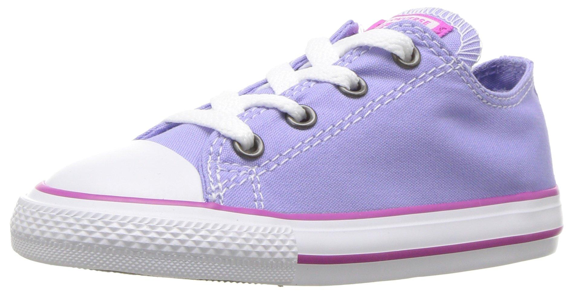 Converse Kids' Chuck Taylor All Star Seasonal Canvas Low Top Sneaker, Twilight Pulse/Hyper Magenta, 9 M US Toddler