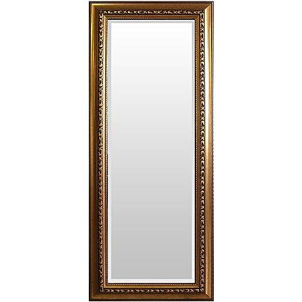 wohaga® Perchero espejo, elegante adornado, borde biselado ...