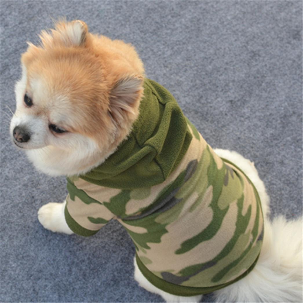 Haustierkleidung, Hund Haustierbekleidung Hoodie Warmes Pullover Welpen-Mantel-Kleid von Sannysis Amonfineshop_2586