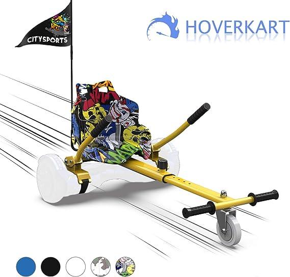MARKBOARD Asiento Kart, Hoverkart para Patinete Eléctrico, Compatible con Hoverboard de 6.5, 8.5 y 10 Pulgadas (Hip): Amazon.es: Deportes y aire libre