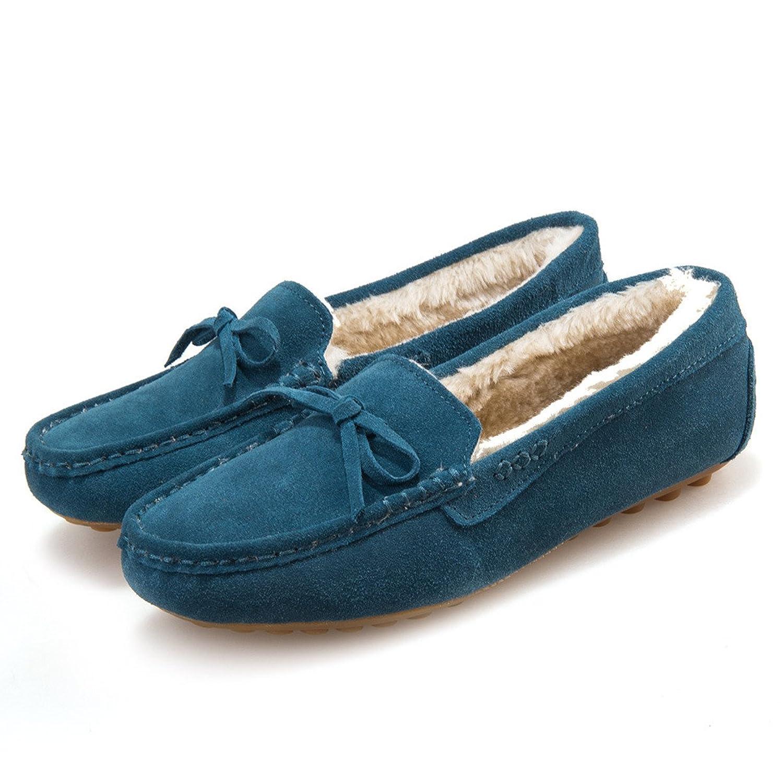Yougao Women's Winter Faux Fur Comfort Soft Slip On Lady Slipper Flats Shoes