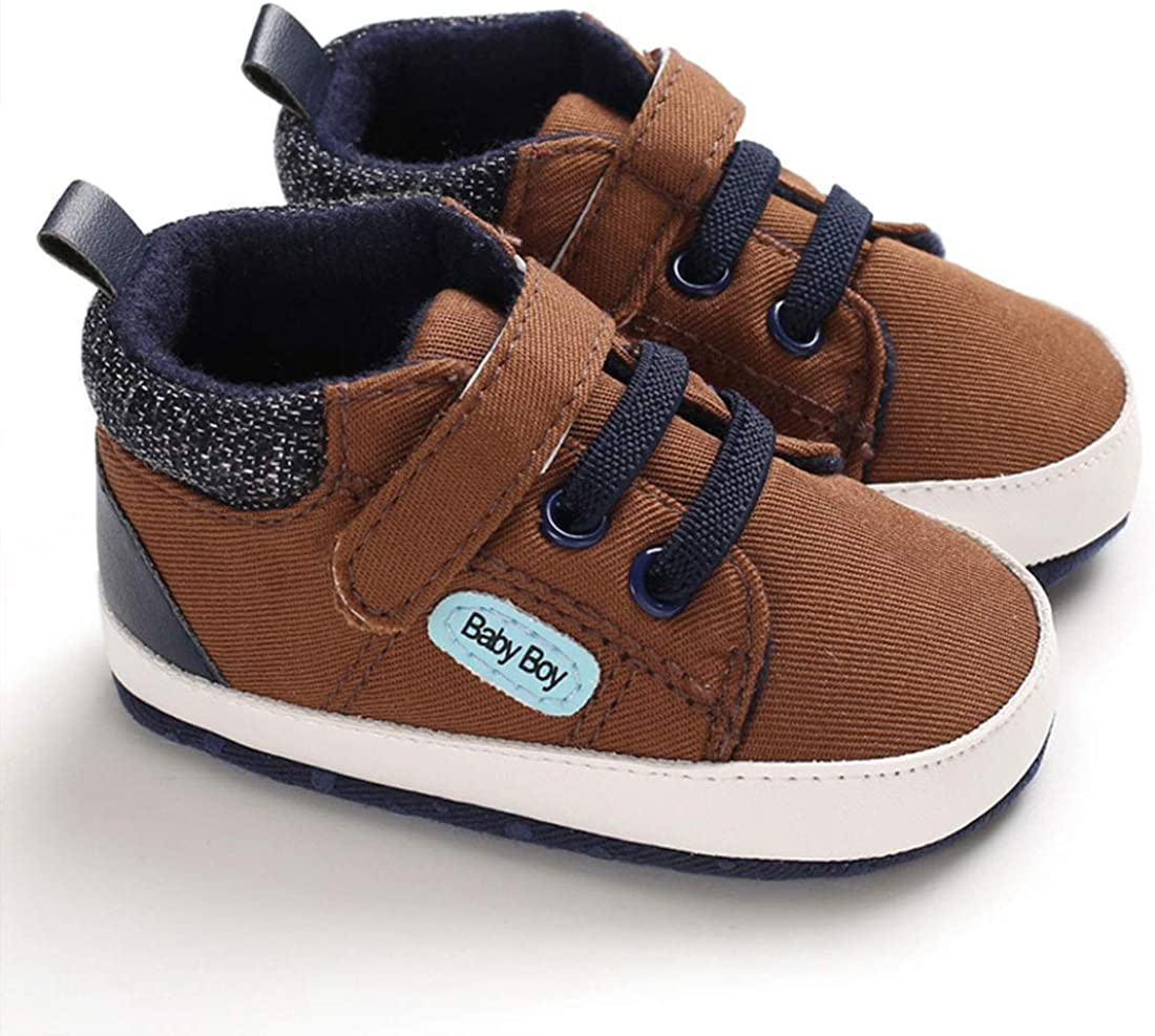 Baby Shoes Boy Toddler Shoes Girl Infant Shoes Canvas Sneakers Lightweight First Walkers Shoes Non-Slip and Soft Sole Walking Shoes