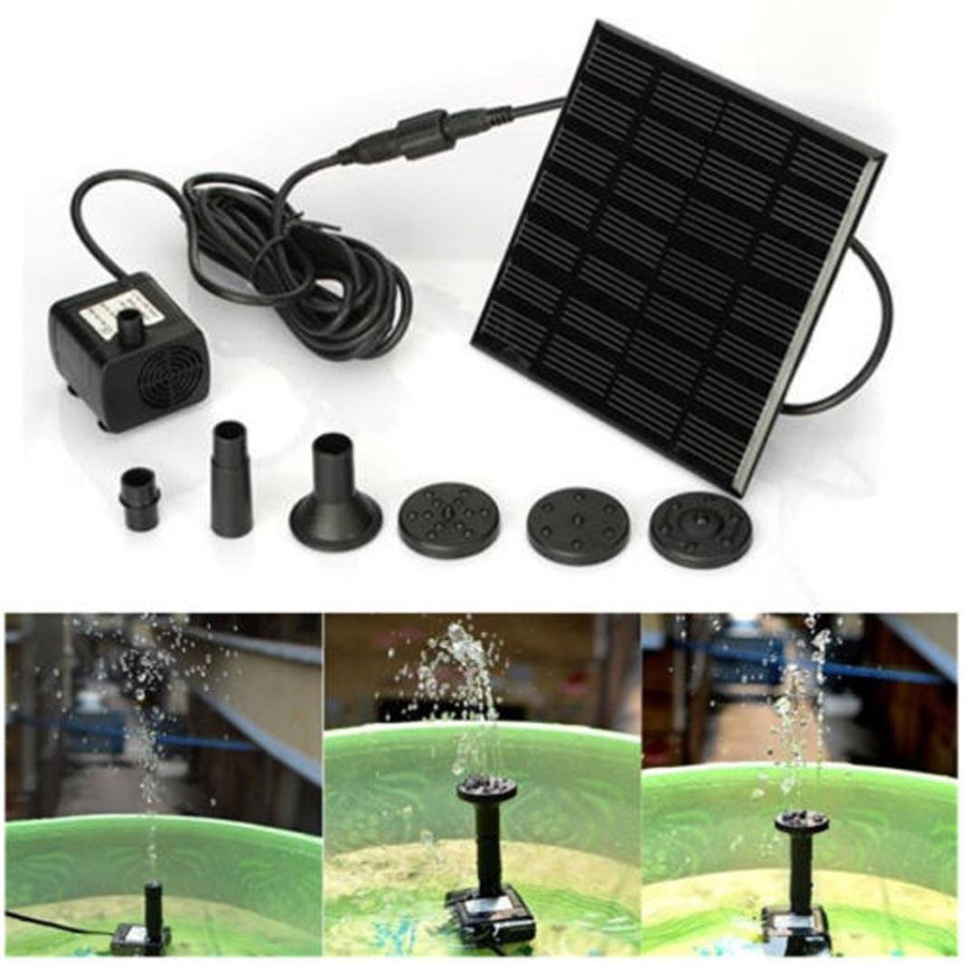 YJYdada Solar Water Panel Power Fountain Pump Kit Pool ,Garden Pond Watering Submersible ,Outdoor Watering
