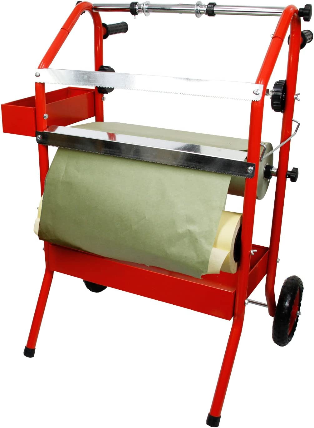 TCP Global Mobile 36 Multi-Roll Masking Paper Machine with Storage Trays Auto Body Paint /& Repair Shop Car Painting Prep