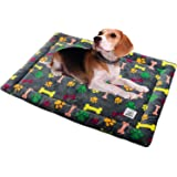Allisandro Dog Bed Mat, Machine Washable, Dryer Friendly, and Non Slip Crate Mattress Cushion Pad Fluffy for Puppy Cat…