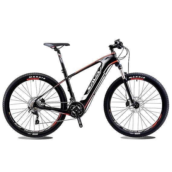 SAVADECK bicicleta eléctrica de montaña de fibra de carbono de 27,5 pulgadas juego de bielas de bicicleta de montaña en bicicleta con Shimano 20 Pedelec ...