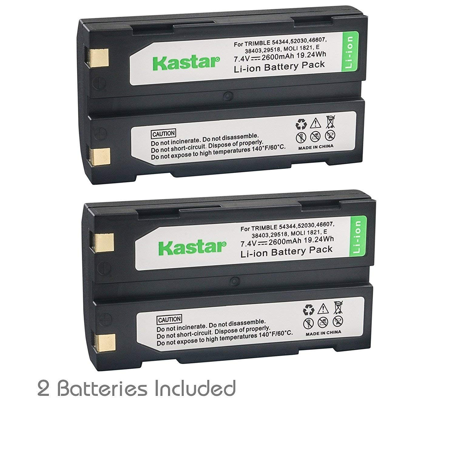 Kastar D-Li1 Battery 2 Pack Replacement for Pentax Ei-D-Li1 EI-D-BC1 EI-2000 Trimble 29518 46607 52030 54344 38403 5700 5800 R6 R7 R8 GNSS TR-R8 GPS MT1000 HP C8873A PhotoSmart 912 C912 912XI C912XI by Kastar (Image #1)