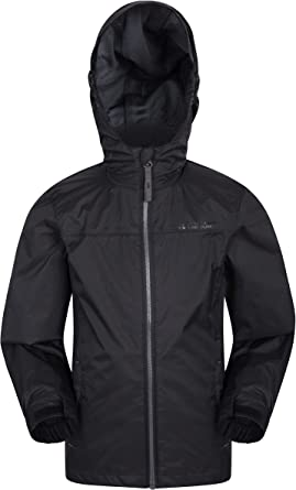 Lightweight Mountain Warehouse Torrent Kids Waterproof Rain Jacket