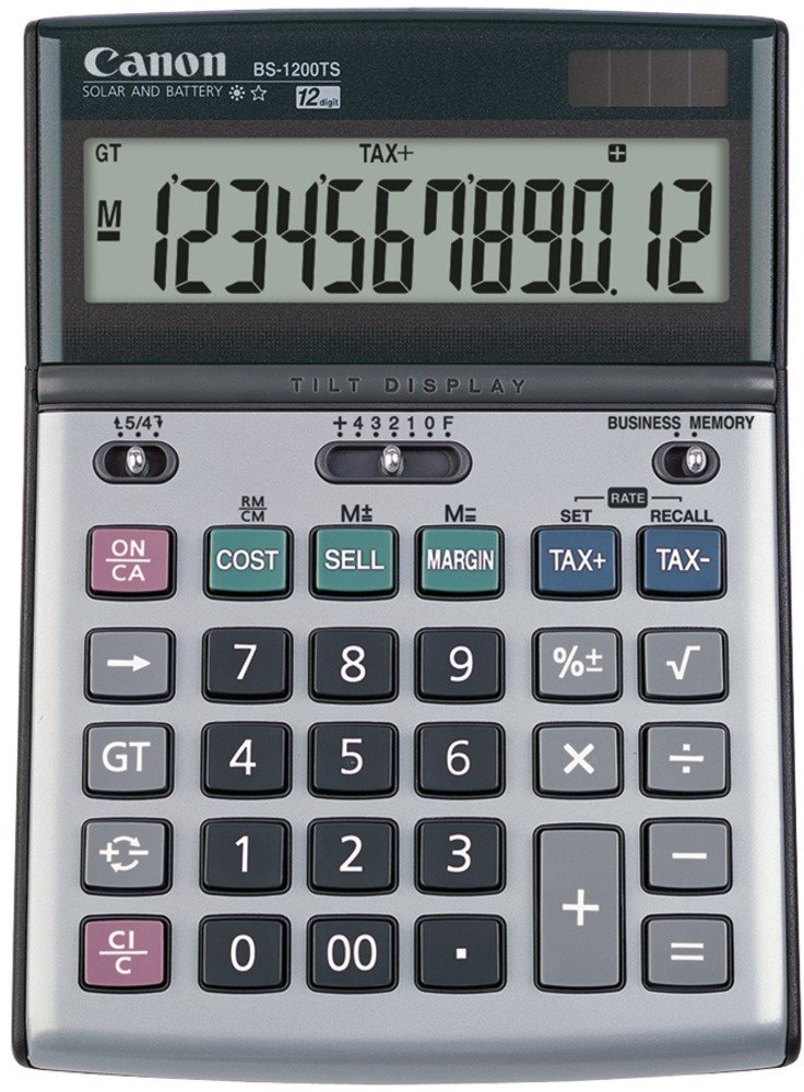 Canon - BS1200TS Solar & Battery-Powered Calculator 1 pcs sku# 1296680MA by Canon