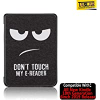 TASLAR Flip Case Cover,The Thinnest Lightest PU Leather Smart Shell Cover with Auto Sleep Wake Feature for All Kindle 10th Generation 6 Inch 2019 Release (Big Eyes Black)
