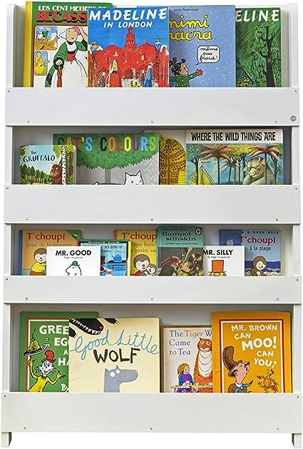 Tidy Books ® Estanteria infantil, Librería Montessori para niños, Biblioteca de pared, Madera, Blanca, 115 x 77 x 7 cm, ECO Friendly, Hecho a mano, La ...