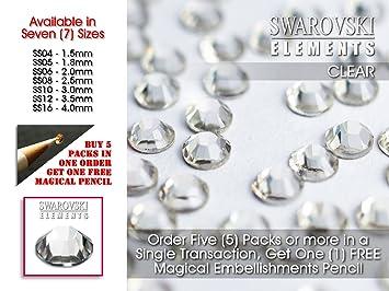 SS16 Strasssteine, Swarovski Steine, Flache Rückseite, Kein Hot Fix, 4