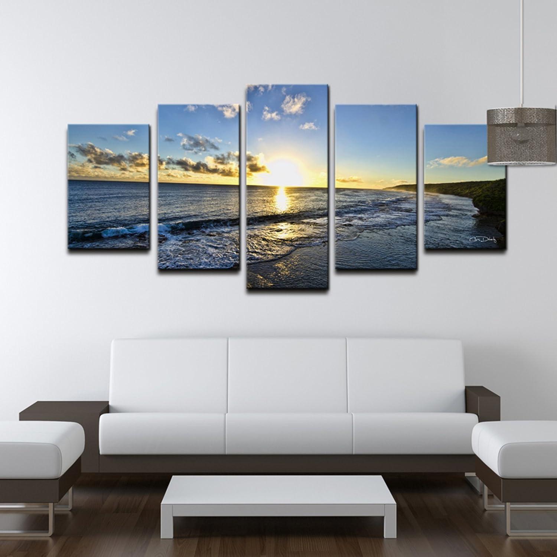 Amazon.com: Ready2hangart Chris Doherty \'Day Break\' 5-piece Canvas ...