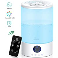 JBTOR 3L Ultrasonic Cool Mist Humidifier with Remote Control (white)