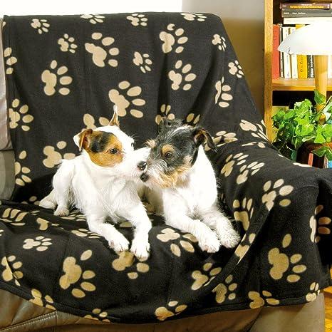 Trixie Plaid Pour Chiens Et Chats Barney 100 X 150 Cm Noir Beige